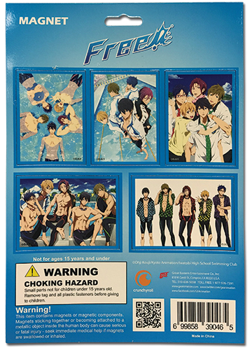 Free! - Magnet Collection, an officially licensed product in our Free! Magnet department.
