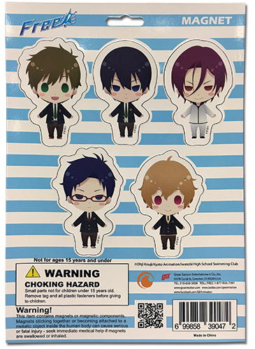 Free! - Magnet Collection 2, an officially licensed product in our Free! Magnet department.