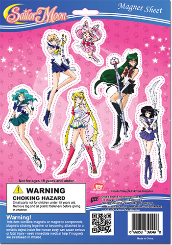 Sailor Moon S - Outer Senshi Group Magnet Set, an officially licensed product in our Sailor Moon Magnet department.