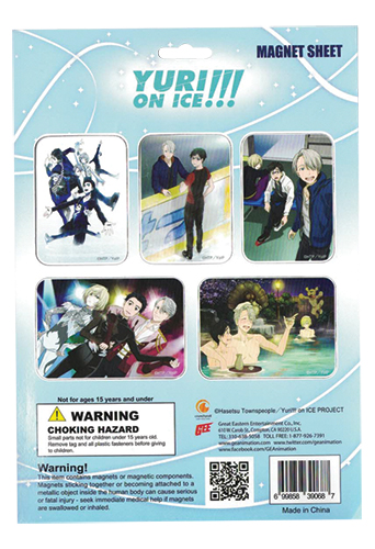 Yuri On Ice!!! - Group Magnet Sheet, an officially licensed product in our Yuri!!! On Ice Magnet department.
