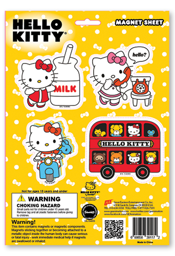 Hello Kitty - Hello Kitty & Friends Magnet Sheet, an officially licensed product in our Hello Kitty Magnet department.