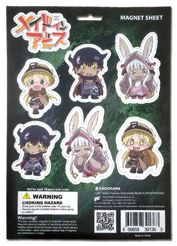 Made In Abyss - Sd Group Magnet Sheet, an officially licensed product in our Made In Abyss Magnet department.