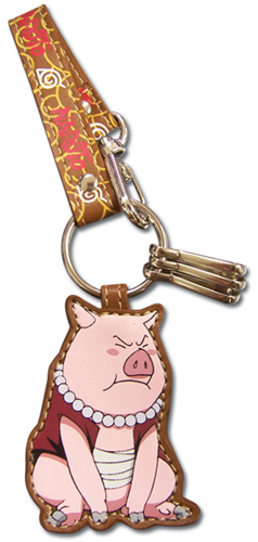 Naruto Tonton Leather Keychain, an officially licensed product in our Naruto Key Chains department.