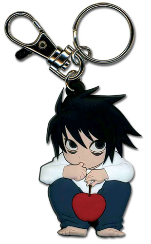 Death Note L Sd Pvc Keychain, an officially licensed Death Note Key Chain