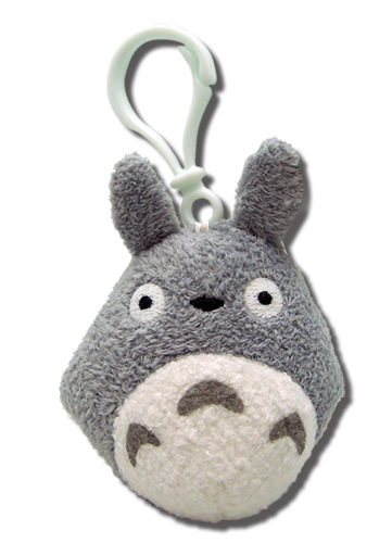 Totoro Backpack Clip - Grey, an officially licensed Totoro product at B.A. Toys.