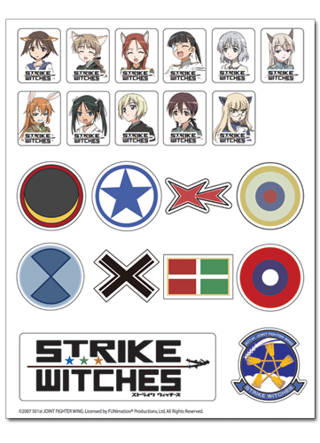 Strike Witches Sticker Set, an officially licensed product in our Strike Witches Stickers department.