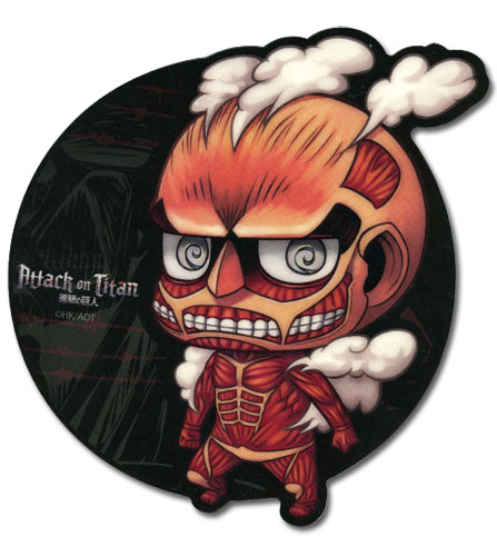 Attack On Titan - Sd Titan Mouse Pad, an officially licensed product in our Attack On Titan Costumes & Accessories department.