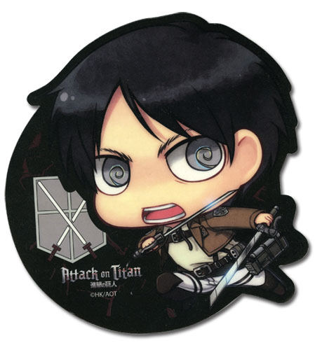 Attack On Titan - Sd Eren Mouse Pad, an officially licensed Attack On Titan product at B.A. Toys.