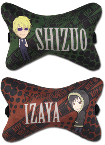 Durarara - Shizuo & Izaya Car Pillow (2 Pcs/Set), an officially licensed product in our Durarara!! Pillows department.