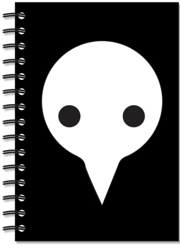 Evangelion Logo Shito Angel Notebook, an officially licensed Evangelion Stationery