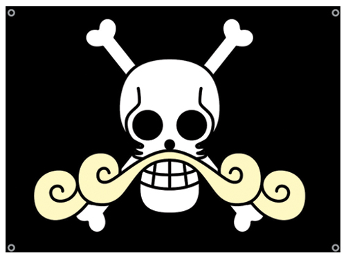 One Piece Gold Roger's Flag, an officially licensed product in our One Piece Flag department.