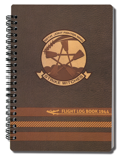 Strike Witches 501St Flight Log Notebook, an officially licensed product in our Strike Witches Stationery department.