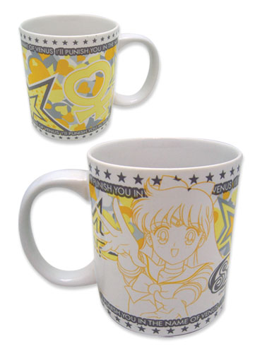 Sailormoon Sailor Venus Mug officially licensed Sailor Moon Mugs & Tumblers product at B.A. Toys.