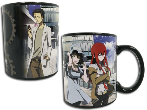 Stein;S Gate - Kurisu & Mayuri Mug, an officially licensed product in our Stein;S Gate Mugs & Tumblers department.