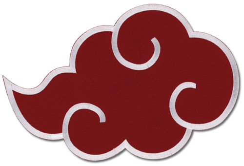 Naruto Akatsuki's Cloud Large Patch officially licensed product at B.A. Toys.