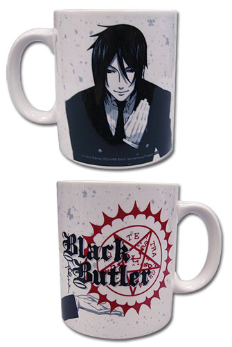 Black Butler - Sebastian White Mug, an officially licensed Black Butler product at B.A. Toys.