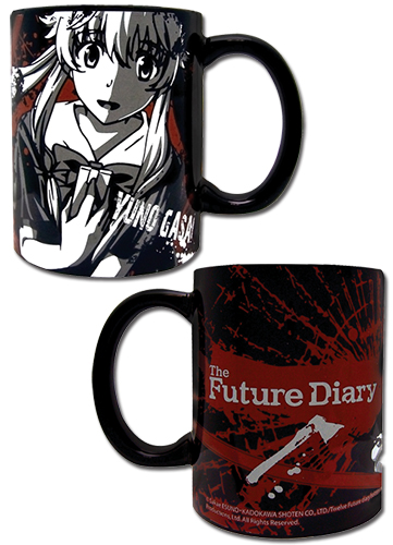 Future Diary - Yuno Black Mug officially licensed Future Diary Mugs & Tumblers product at B.A. Toys.