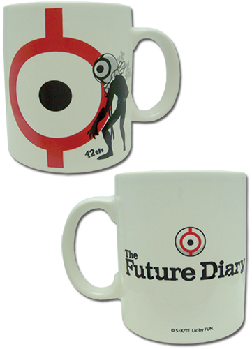 Future Diary - 12Th White Mug, an officially licensed product in our Future Diary Mugs & Tumblers department.