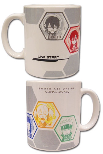 Sword Art Online - Sd Group Mug, an officially licensed product in our Sword Art Online Mugs & Tumblers department.
