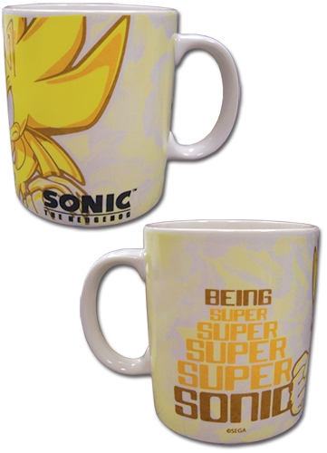 Sonic The Hedgehog - Super Sonic Mug officially licensed Sonic Mugs & Tumblers product at B.A. Toys.
