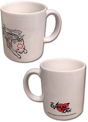Okami Den - Chibiterasu Mug, an officially licensed product in our Okamiden Mugs & Tumblers department.