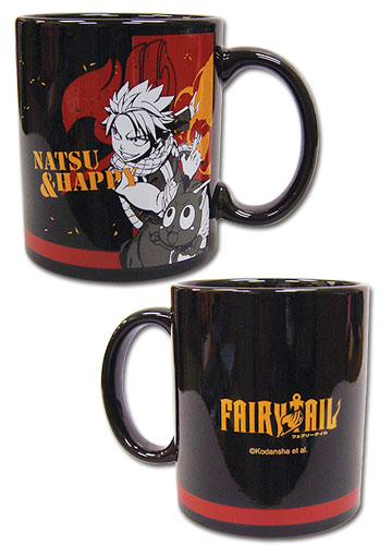 Fairy Tail - Natsu And Happy Mug, an officially licensed product in our Fairy Tail Mugs & Tumblers department.