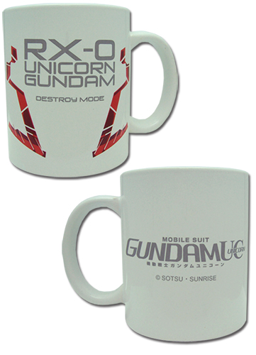 Gundam Uc - Unicorn Gundam Mug officially licensed Gundam Uc Mugs & Tumblers product at B.A. Toys.
