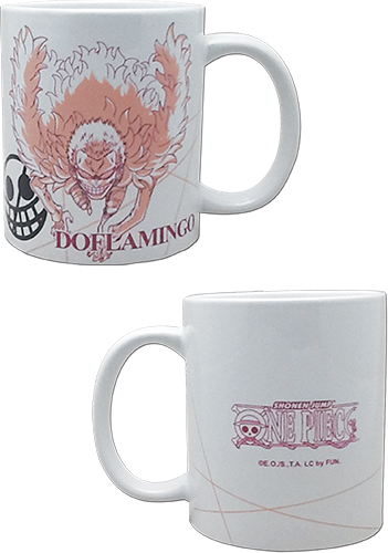 One Piece - Doflamingo Mug officially licensed One Piece Mugs & Tumblers product at B.A. Toys.