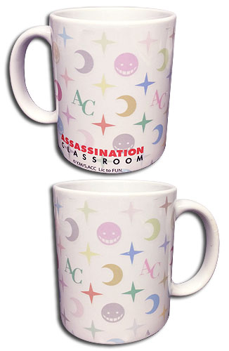 Assassination Classroom - Koro Face Monogram Mug officially licensed Assassination Classroom Mugs & Tumblers product at B.A. Toys.
