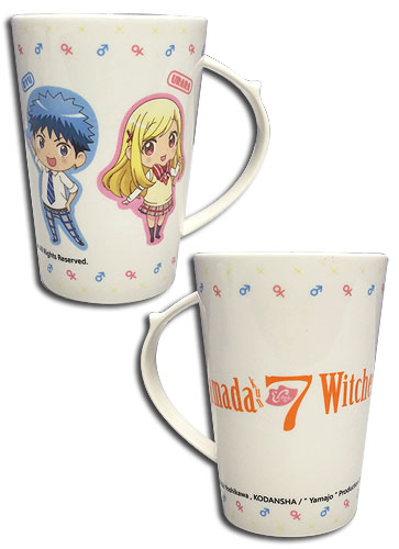 Yamada Kun - Ruu & Urara Mug, an officially licensed product in our Yamada-Kun And The Seven Witches Mugs & Tumblers department.