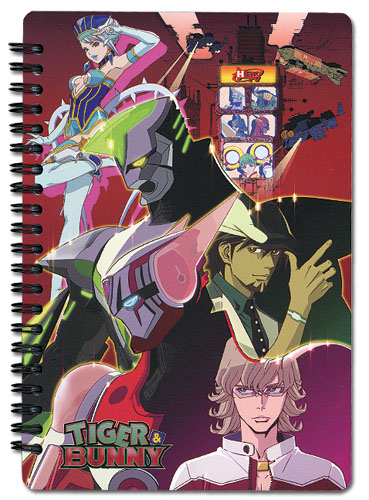 Tiger & Bunny Tiger, Bunny, And Blue Rose Notebook officially licensed Tiger & Bunny Stationery product at B.A. Toys.