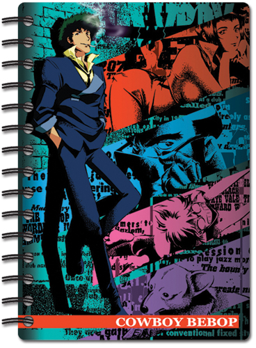 Cowboy Bebop Spike And Group Notebook, an officially licensed Cowboy Bebop Stationery