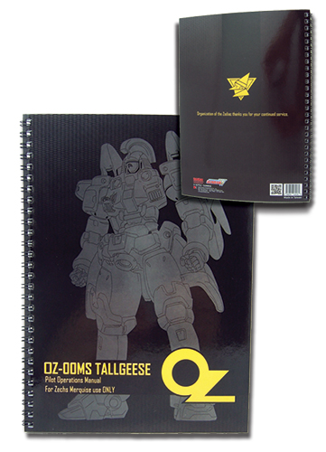 Gundam Wing Oz Tallgeese Spiral Notebook officially licensed Gundam Wing Stationery product at B.A. Toys.