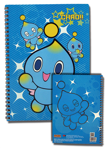 Sonic The Hedgehog Chao Spiral Notebook officially licensed Sonic Stationery product at B.A. Toys.