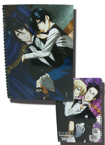 Black Butler 2 Butlers & Masters Spiral Notebook, an officially licensed Black Butler Stationery