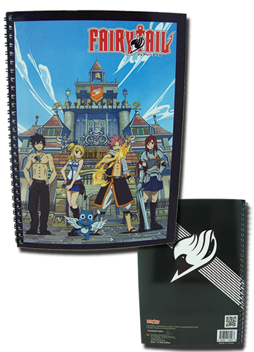 Fairy Tail Insignia & Group Spiral Notebook, an officially licensed Fairy Tail product at B.A. Toys.