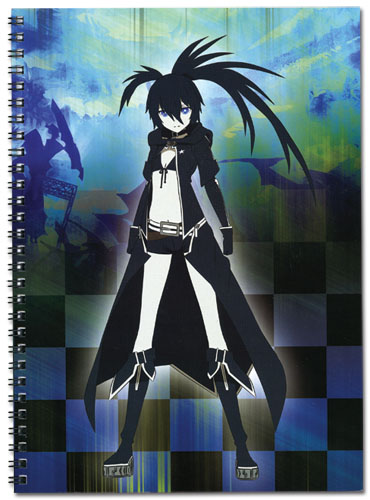 Black Rock Shooter Black Rock Shooter Spiral Notebook, an officially licensed Black Rock Shooter product at B.A. Toys.