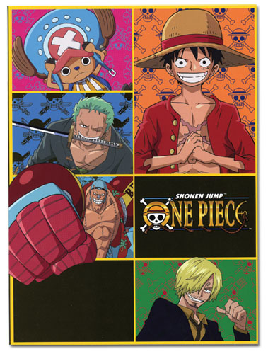 One Piece Straw Hat Pirates Glue Bound Notebook officially licensed product at B.A. Toys.