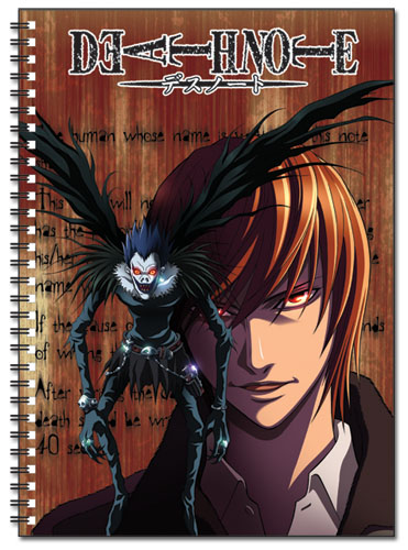 Death Note Light & Ryuk Sprial Notebook, an officially licensed Death Note product at B.A. Toys.