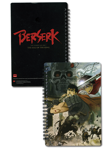 Berserk Movie Notebook officially licensed Berserk Stationery product at B.A. Toys.