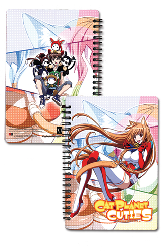 Cat Planet Cuties Eris Notebook, an officially licensed Cat Planet Cuties Stationery