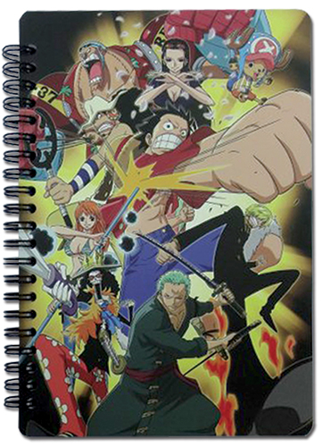 One Piece - New World Group Spiral Notebook officially licensed One Piece Stationery product at B.A. Toys.