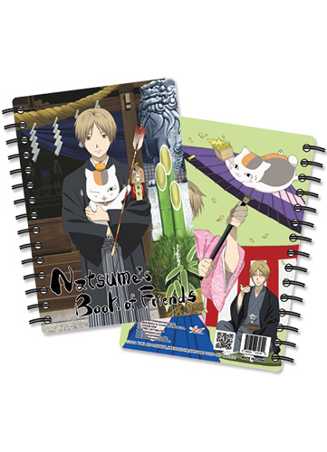 Natsume'S Book Of Friends Nyanko Sprial Notebook officially licensed Natsume'S Book Of Friends Stationery product at B.A. Toys.