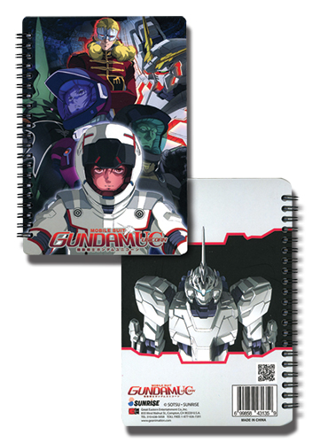 Gundam Uc Unicorn Notebook officially licensed Gundam Uc Stationery product at B.A. Toys.