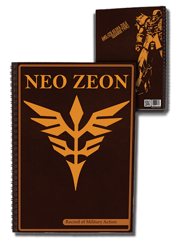 Gundam Neo Zeon Notebook officially licensed Gundam Uc Stationery product at B.A. Toys.