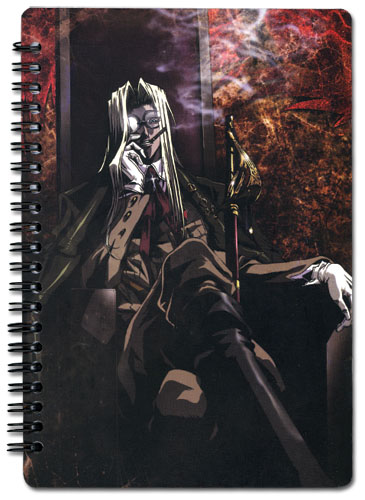 Hellsing Ultimate Integra Spiral Notebook officially licensed Hellsing Stationery product at B.A. Toys.
