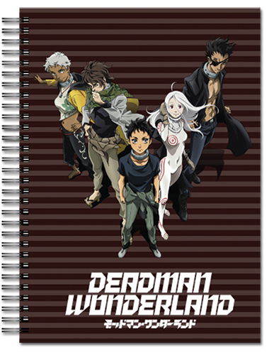 Deadman Wonderland - S4 Spiral Notebook officially licensed Deadman Wonderland Stationery product at B.A. Toys.