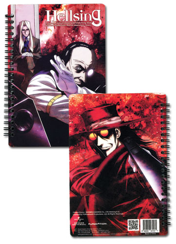 Hellsing Integra, Walter, & Alucard Notebook officially licensed Hellsing Stationery product at B.A. Toys.