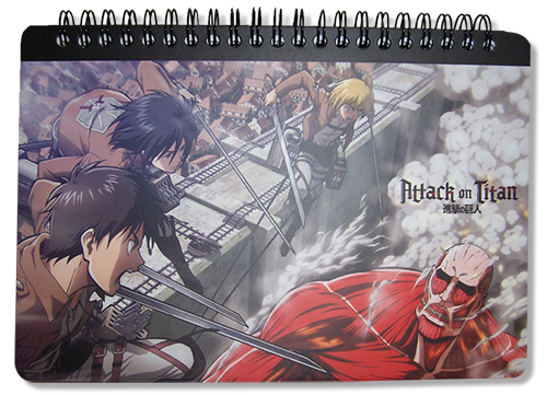 Attack On Titan Attack On Titan Spiral Notebook officially licensed Attack On Titan Stationery product at B.A. Toys.
