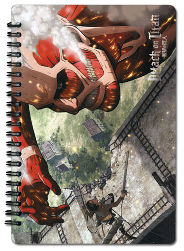 Attack On Titan - Titan Spiral Notebook, an officially licensed Attack on Titan Stationery